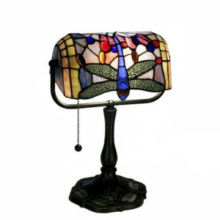 Warehouse of Tiffany Dragonfly Banker Desk Lamp in Bronze   GB06