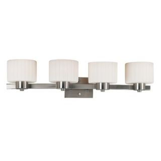 Kenroy Home Legacy Vanity Light in Brushed Steel