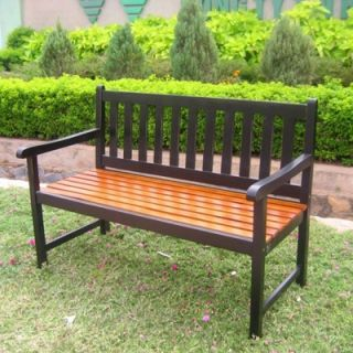 International Caravan Acacia Patio Wood Garden Bench   VF 4110 ST