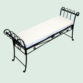 Pangaea Scroll Iron Garden Bench   BT 1C001 K