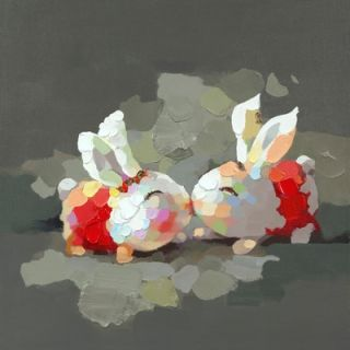Moes Home Collection Bunny Kiss Wall Decor   RE 1036 37