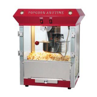 Great Northern Popcorn Popcorn Time Antique Popcorn Machine in Red