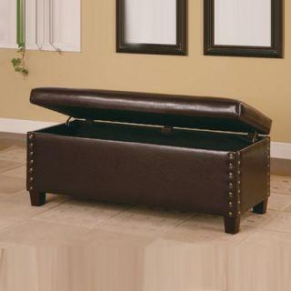 Wildon Home ® Broadbent Leather Storage Bench