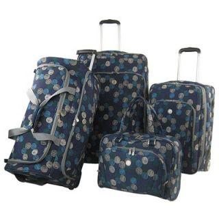 Olympia Sapphire 4 Piece Luggage Set   D 1600 3 BU