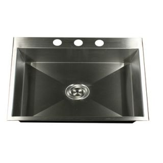 Nantucket Sinks Self Rimming Stainless Steel Single Bowl Kitchen Sink