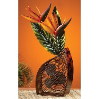 Deco Breeze Bird of Paradise Figurine Table Top Fan