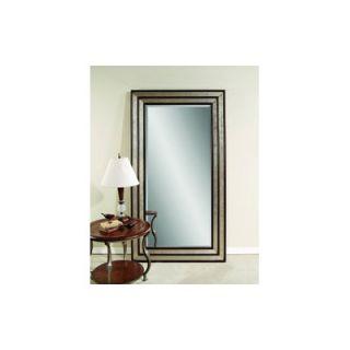 Bassett Mirror Leaner Mirror in Silver and Merlot