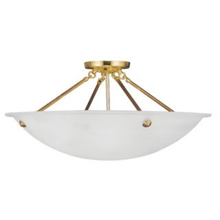Livex Lighting Home Basics Semi Flush Mount   427 / 5627