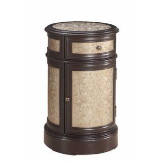 Gails Accents Classic Tooled Barrel End Table   21 888LT