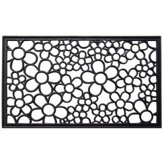 Imports Unlimited Recycled Rubber Daisies Doormat   199 R