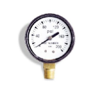 Wayne Water Systems 0 200 PSI, 0.25 Bottom Pressure Gauge   66016