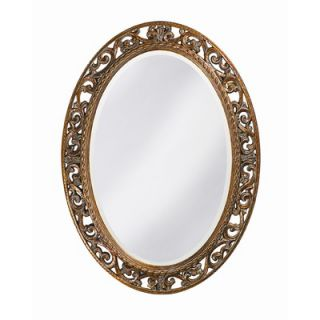 Howard Elliott Suzanne Wall Mirror in Antique Bronze