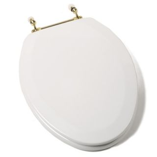 Comfort Seats Deluxe Molded Elongated Toilet Seat in White