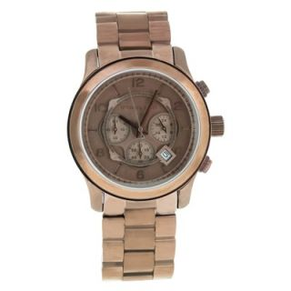 Michael Kors Womens Runway Watch with Brown Chronograph Dial