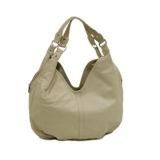 Piel Ladies Large Hobo Bag in Ivory   2764 IVY