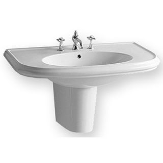 Whitehaus Collection China Wall Mount Large U Shaped Bath Basin with