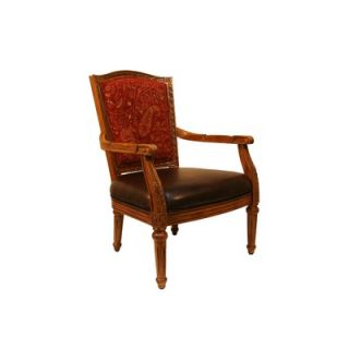 Royal Manufacturing Oak Frame Chair with Blackberry PU Seat, and
