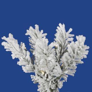 Vickerman Flocked Pacific Pine 6.5 Artificial Pencil Christmas Tree