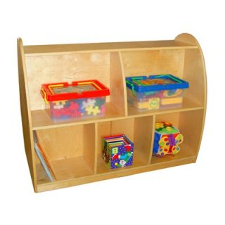 A+ Child Supply Two Sided Arch Storage with 2 Generous Shelves
