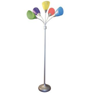 Hazelwood Home Multi Color Five Head lamp   LMP102SV