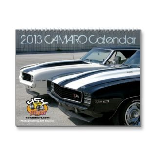 2013 Camaro Calendar from Zazzle