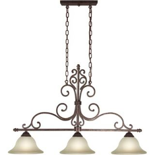 Forte Lighting 3 Light Kitchen Island Pendant   2327 03 27