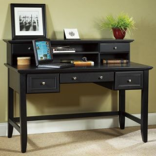 Home Styles Bedford Executive Writing Desk and Hutch Set with 3