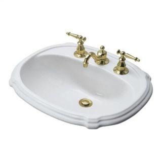 Kohler Portrait Self Rimming Bathroom Sink with Single Hole Faucet