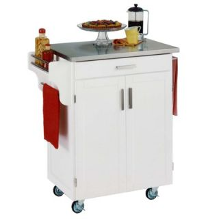 Home Styles Kitchen Cart with Stainless Steel Top   9001 0042