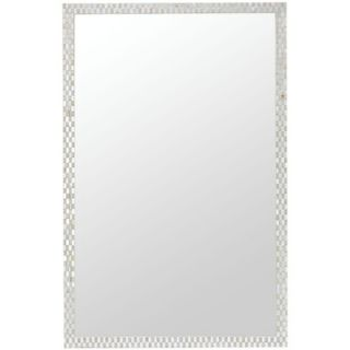 Cooper Classics Spencer Mirror in Bone and Mirror Mosaic