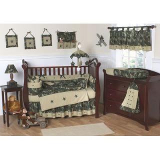 Sweet Jojo Designs Green Camo 9 Piece Crib Bedding Set   Camo GR 9
