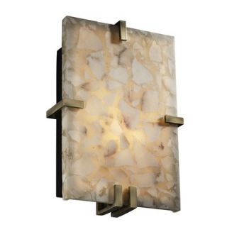 Justice Design Group Alabaster Rocks Clips Two Light Wall Sconce