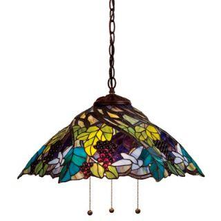 Meyda Tiffany Tiffany 3 Light Grape Pendant