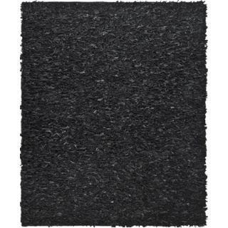Safavieh Leather Shag Black Rug