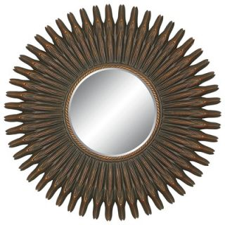 Imagination Mirrors Coronet Round Wall Mirror in Crackled Gold