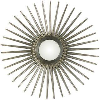 Cooper Classics Sunburst Mirror in Antique Silver
