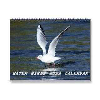 2013 calendar consisting of special photos of water birds including