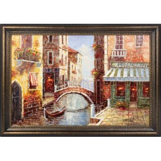 Hokku Designs The Bridge Hand Painted Oil Canvas Art with Frame