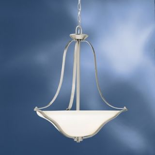 Kichler Langford 3 Light Inverted Pendant   3384CST/3384NI