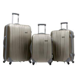 Travelers Choice Toronto 3 Piece Hardsided Spinner Luggage Set