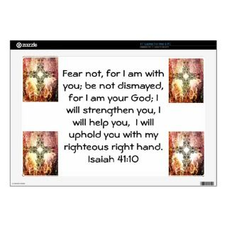 Bible Verses Inspirational Quote Isaiah 41:10 Skin For 17 Laptop