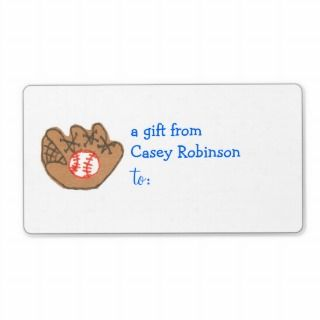 Personalized gift tag label    baseball theme
