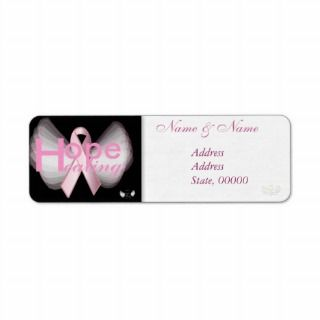 Healing Hope Pink Ribbon Angelic Address Label