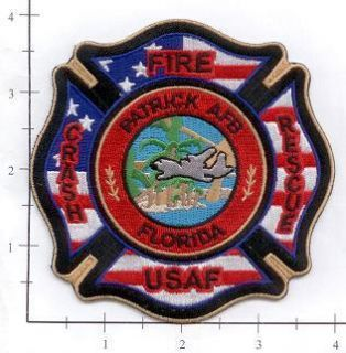 Florida FL Patrick Air Force Base Fire Dept Patch V3 CFR USAF