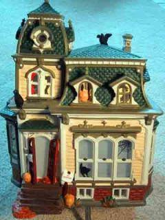 Halloween Haunted Mansion Department 56 Snow Village Green Roof