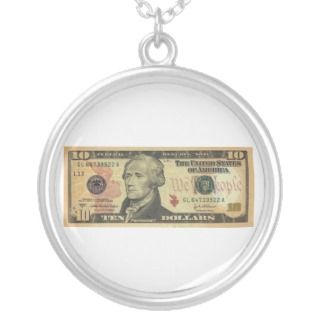 Ten Dollar Bill Federal Reserve Note Series 2004A Jewelry