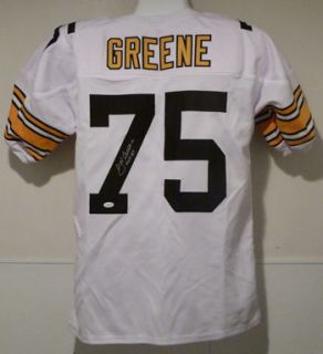 Joe Greene Autographed Signed Pittsburgh Steelers White Poly Jersey w