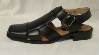 Majestic Collection Dress Sandals for Men Black 56