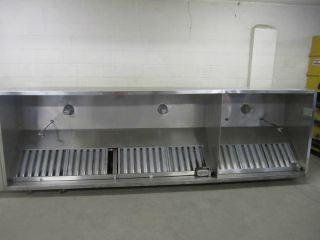 Greenheck Stainless Steel 12 Foot Restaurant Grease Exhaust Hood