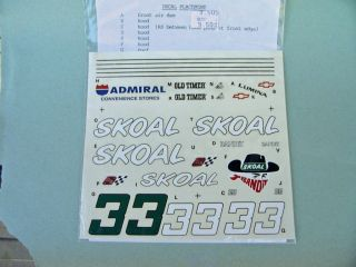 Skoal Bandit Decal Sheet 33 Harry Gant Lumina